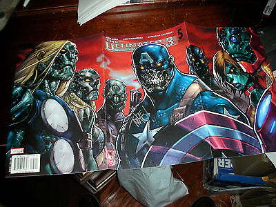Ultimates 3 #5 Var Iss Tri-Fold Out Cover Signed By Artist Joe Mad Madurera Coa