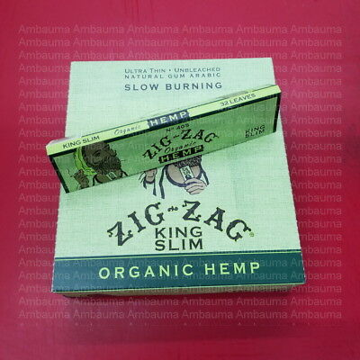 24PK Zig Zag Green Light 185 1 1/4 Cigarette 1.25 Rolling Paper Authentic