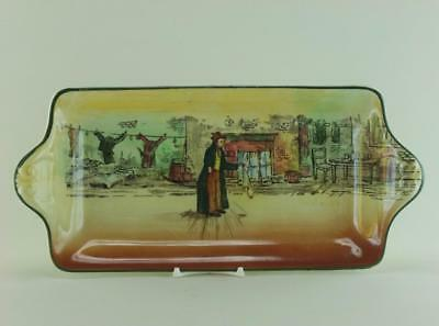 Royal Doulton Dickens Ware D5175 Oblong Sandwich Tray - The Artful Dodger - Noke