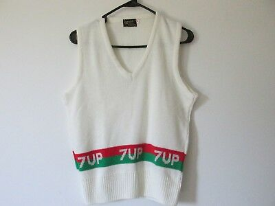 vintage 7-up advertising sweater vest size M but runs small Great condition
