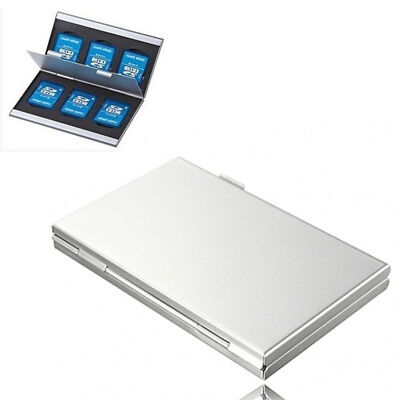 Holder Micro SD Memory Card  Protecter Aluminum Alloy Box Storage Case Covers