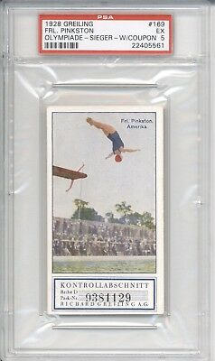 1928 Greling FRL. PINKSTON #169 PSA 5 EX Olympic Diver Card
