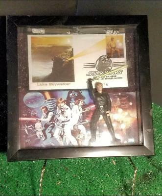 Luke Skywalker Star wars 8.5x8.5 Shadowbox Display FDC Card Reprint Auto Figure