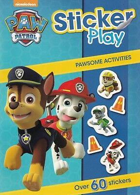 PAW Patrol Sticker Play Activity Book - 60+ Stickers NEW A4 Book