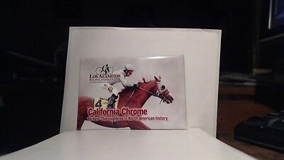 "New California Chrome-Richest Thoroughbred- Refrigerator Magnet   3"" x 2"""