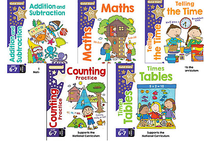 Key Stage 1 Maths Age 6-7 - 5 Books - Addition & Subtraction, Tables + More