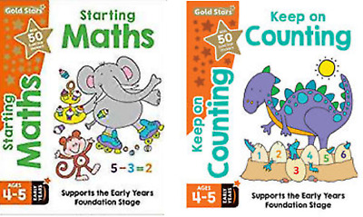 Early Years Foundation Stage Maths Age 4-5 - 2 Book Set Maths & Counting