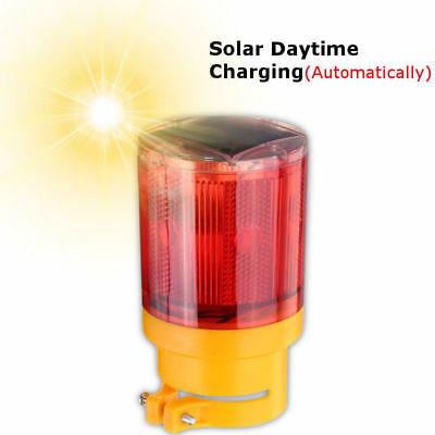 Warning Security Light Yellow/Red LED Solar Power Strobe Flashing Signal Beacon