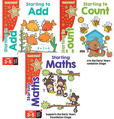 Early Years Foundation Stage Maths Age 3-5 3 Book Set Counting, Addition Maths