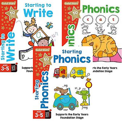 Early Years Foundation Stage English Age 3-5 3 Book Set Writing And Phonics