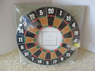"""Dart Board Picture Frame, 3-D, By Sonoma, 3"""" X 3"""" Pix, New Shrink Wrapped In Box"""