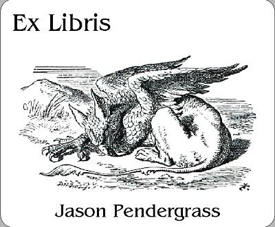 Vintage Gryphon presented in a Personalized Ex Libris Bookplate