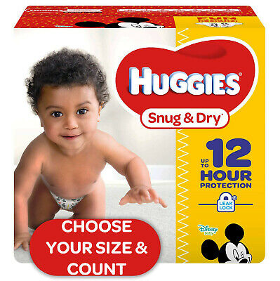 *NEW* HUGGIES Snug & Dry Baby Diapers Size Newborn, 1, 2, 3, 4, 5 and 6