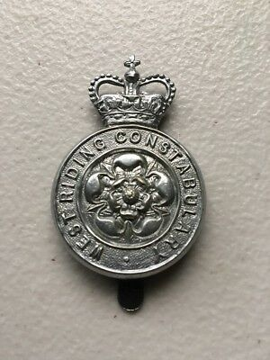 West Riding Police British Bobby Police Helmet Cap Piece England Constabulary