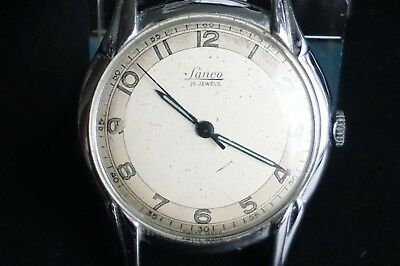 LANCO Armbanduhr 15 Jewels Uhr Swiss Made