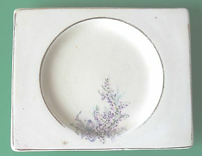 Small Royal Staffordshire A.J Wilkinson Pottery Honeyglaze Floral Plate c.1930
