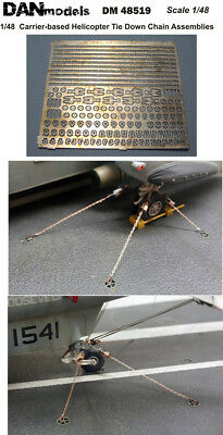 Carrier-based helicopter tie down chain assemblies 1/48 DAN # 48519