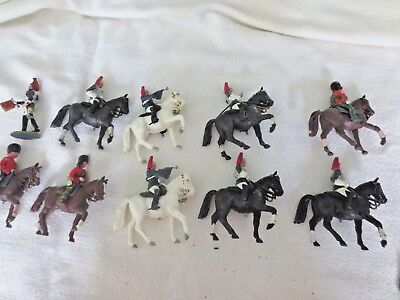Lot of 9  Vtg English Royal Mounted on Horses Soldiers