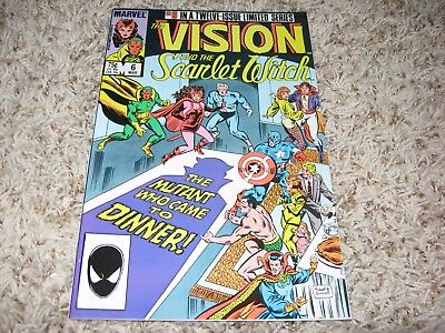 The Vision and The Scarlet Witch #6 (Marvel, 1986) – Avengers, Magneto – NM-