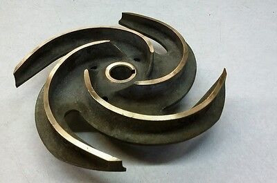 "Brass Impeller 20RVL3BX3 -165 OD= 11"" Bore 1 1/8"" Keyway 5/16"""