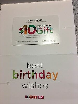 Kohls Birthday Gift Card