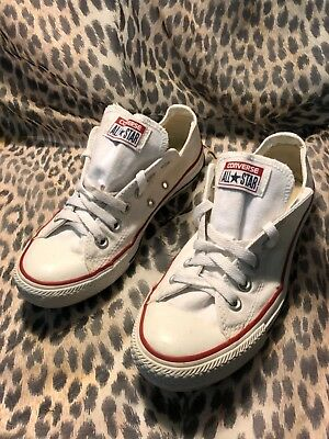 WOMENS CONVERSE SHOES White All Star Chuck Taylor Low Sneakers Us Sz ... b479c2ada