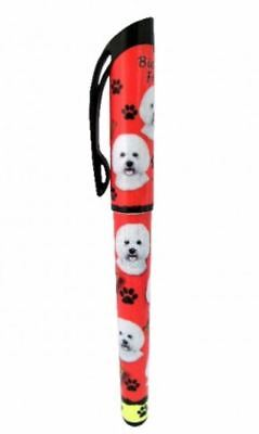 Bichon Frise Gel Pen Refillable Black Gel Ink Dog Gift