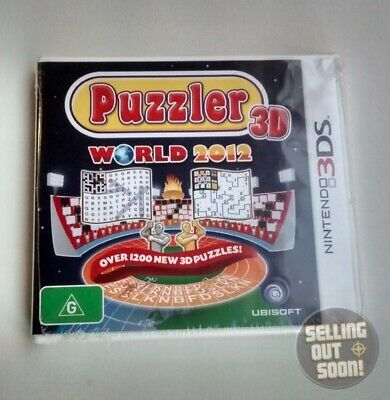 Puzzler World 3D +Sudoku+1200 NEW Word Game Nintendo 3DS 2DS XL crossword puzzle
