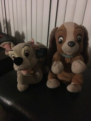 "Disney Lady and the Tramp Plush Soft Toys 12"" Disney"