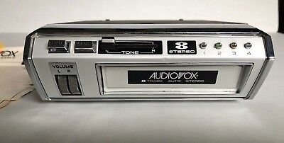 Audiovox 8 Track Tape Deck C-920 4 Channel with Original Wiring Working Unit USA