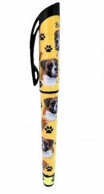 Boxer (Uncropped) Gel Pen Refillable Black Gel Ink Dog Gift