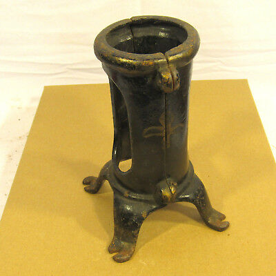 """Simple 7"""" Vintage Cast Iron Christmas Tree Stand Victorian Antique Old Metal"""