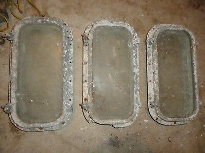 Vintage Lot Ship Boat Aluminium Rectangle Porthole Nautical Maritime Salvage