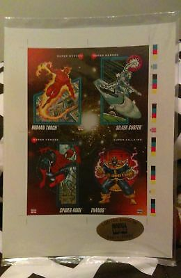MIP Limited Edition Marvel Universe 1992,series 3 promo uncut card sheet (2 pcs)