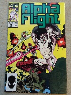 Alpha Flight #51 *First Marvel Jim Lee*