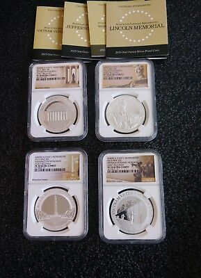 "2015 Niue $2 America's Nat'l Monuments Pf70 Ucam "" Early Releases ""  Set Of 4"