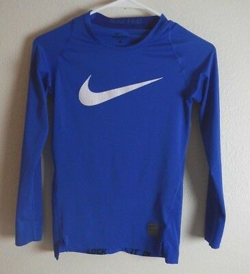 "Youth Nike Pro Base Layer Top FITTED ""Stay Cool"" Long Sleeve Shirt  726460-480"