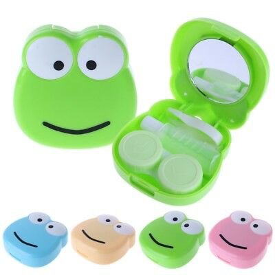 Contact Lens Box Cartoon Frog Objectives Travel Portable Case Storage Container
