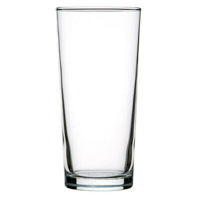 48x Crown Commercial Oxford Beer Glass 425mL Schooner Craft Ale Lager Draught