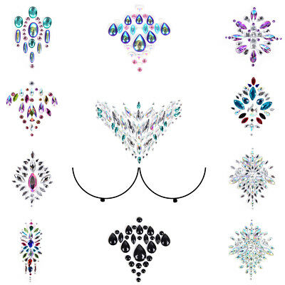 Nipple Sticker Crystal Women Bra Breast Pasties Chest Adhesive Sticker LA