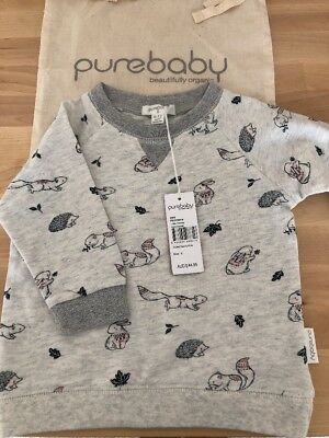 New Pure Baby Jumper Baby Girl Size 0 Purebaby BNWT
