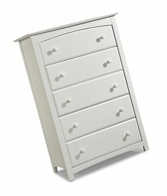 Stork Craft Kenton 5 Drawer Universal Dresser White