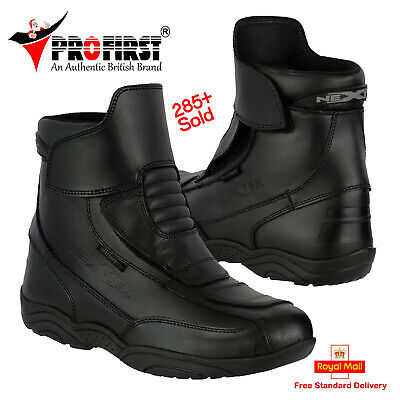 Leather Motorcycle Motorbike Touring Boots Waterproof Bike Riding Armoured Shoes