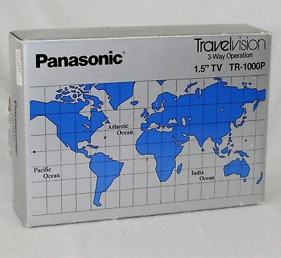 "Panasonic Travelvision - 3-Way Operation - 1.5"" TV - TR-1000P - 1980"