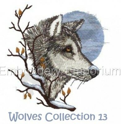 Wolves Collection 13 - Machine Embroidery Designs On Cd