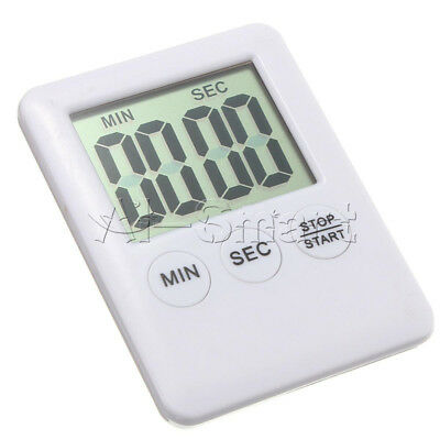 White LCD Digital Kitchen Cooking Timer Count-Down Up Clock Loud Alarm Magnetic
