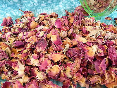 DRIED ROSE PETALS & BUDS Potpourri 100g  confetti soapmaking baths