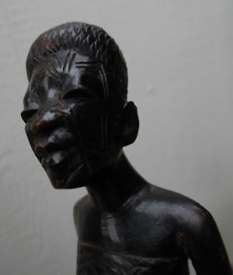 AFRICAN MAKONDE TANZANIA MOZAMBIQUE WOMEN EXPERTLY HAND CARVED WOOD FIGURE 1970s