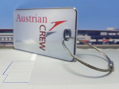 Austrian Airlines Crew Tag / Anhänger silber sehr edel