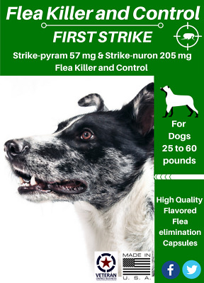 Flea Killer and Control for Dogs 30 to 60 pounds 12 Flavored capsules